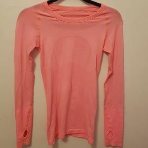 Coral lululemon sweatshirt
